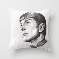 Star Trek Spock Portrait Throw Pillow