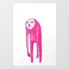 drain hair baby Art Print