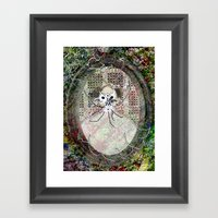 Gas Mask Mama Framed Art Print
