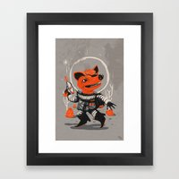 Cpt. Com. Spacecatkilla Framed Art Print