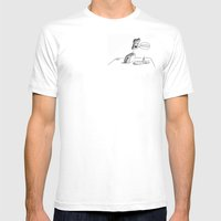 Happy Toast Mens Fitted Tee White SMALL
