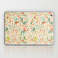 Vector Floral Pattern Laptop & iPad Skin