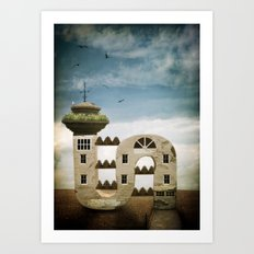 Seaside Living Art Print