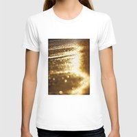 Spun Gold Womens Fitted Tee White SMALL