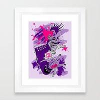 Punk Is Not Dead Framed Art Print