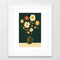 Vase And Flowers Framed Art Print
