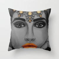 Tangerine Sky Goddess - by Ashley-Rose Standish Throw Pillow