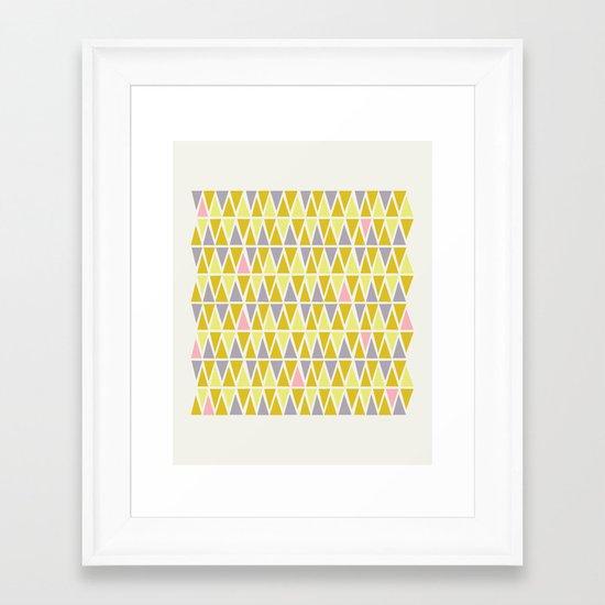 Lemon Sorbet Framed Art Print