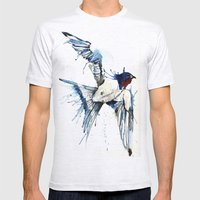 My Swallow Mens Fitted Tee Ash Grey SMALL