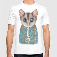 Possum Mens Fitted Tee White SMALL