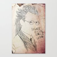 Evil uncle Leon Canvas Print