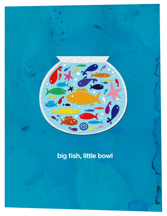 Big fish, little bowl.  Art Print
