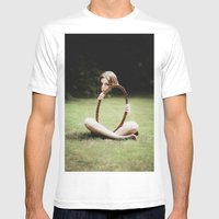 Invisible Mens Fitted Tee White SMALL
