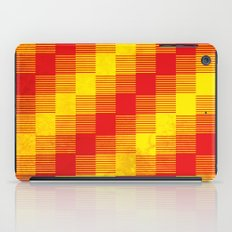 Rusty yellow and red motive iPad Case