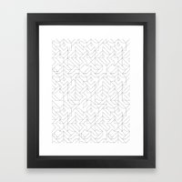 Geometric Camo Framed Art Print