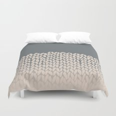 Half Knit Ombre Nat Duvet Cover