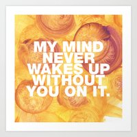 SUNDAYS ARE FOR SOULMATES / My mind Art Print