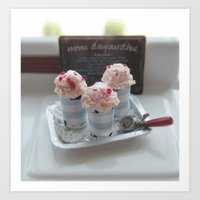 Vintage Sweet Ice Cream Art Print
