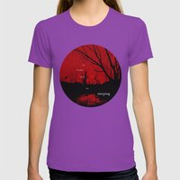 I am haunted when I am sleeping Womens Fitted Tee Ultraviolet SMALL