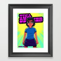 Tina vs. The Universe Framed Art Print