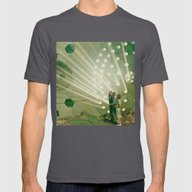 The Light Pours Out Of M… Mens Fitted Tee Asphalt SMALL