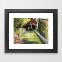 Agnes descending Framed Art Print
