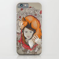 iPhone & iPod Case featuring Safe in My Red Riding Hood by jewelwing