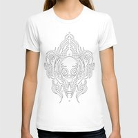 Alien Tribal Tattoo - Wh… Womens Fitted Tee White SMALL