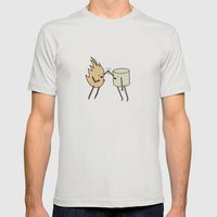 Toasted Marshmallow Mens Fitted Tee Silver SMALL