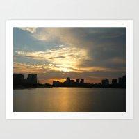 Charles River Sunrise 2 Art Print
