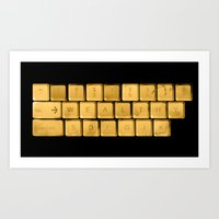 The WEALTHY Keyboard Art Print