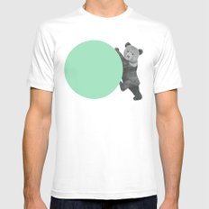 peppermint bear White Mens Fitted Tee SMALL