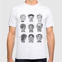 Crazy Heads Mens Fitted Tee Ash Grey SMALL