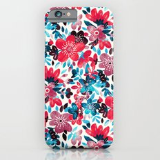 Happy Red Flower Collage Slim Case iPhone 6s