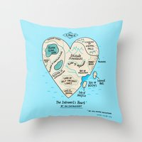 A Map of the Introvert's Heart Throw Pillow