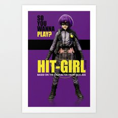Hit-Girl Art Print