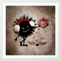 Evil Bug Gives Christmas… Art Print