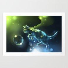 Aqua Apparition Art Print