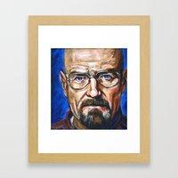 Walter White Breaking Bad Framed Art Print