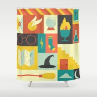 Shower Curtain featuring King's Cross - Harry Pot… by Ariel Wilson
