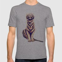 Zen Tiger  Mens Fitted Tee Athletic Grey SMALL