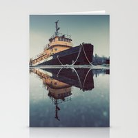 Reflecting Tugboat Stationery Cards