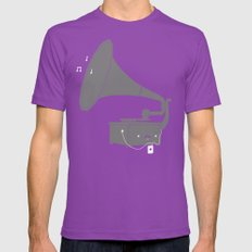 Get with the times Mens Fitted Tee Ultraviolet SMALL