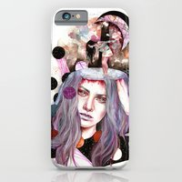 iPhone Cases featuring And Bring the Crazy by Veronika Weroni Vajdová