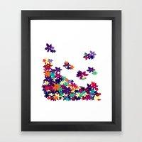 Flowered Up Framed Art Print