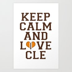 LOVE CLE BROWNS II Art Print