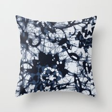 Floral abstract pattern art print Throw Pillow