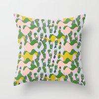 Whimsical Mountains Throw Pillow