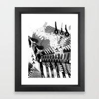 GRAY AND BLACK Framed Art Print