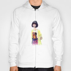 Fashion Illustration . Oriental Girl Hoody